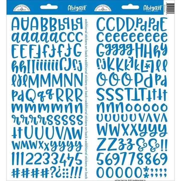 Abigail Alphabet Stickers -Blue Jean