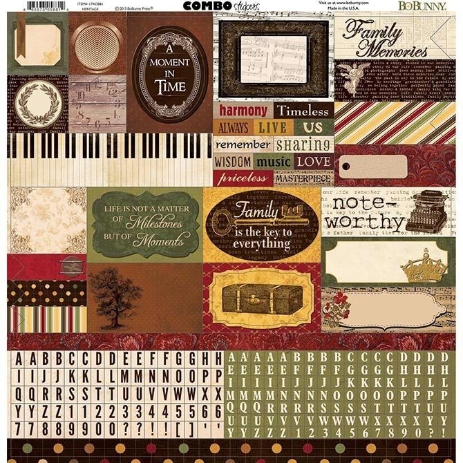 Heritage Family 12x12 Stickers