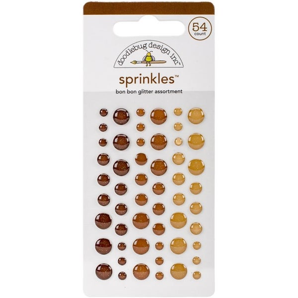 Doodlebug Glitter Spinkles - Bon Bon Brown