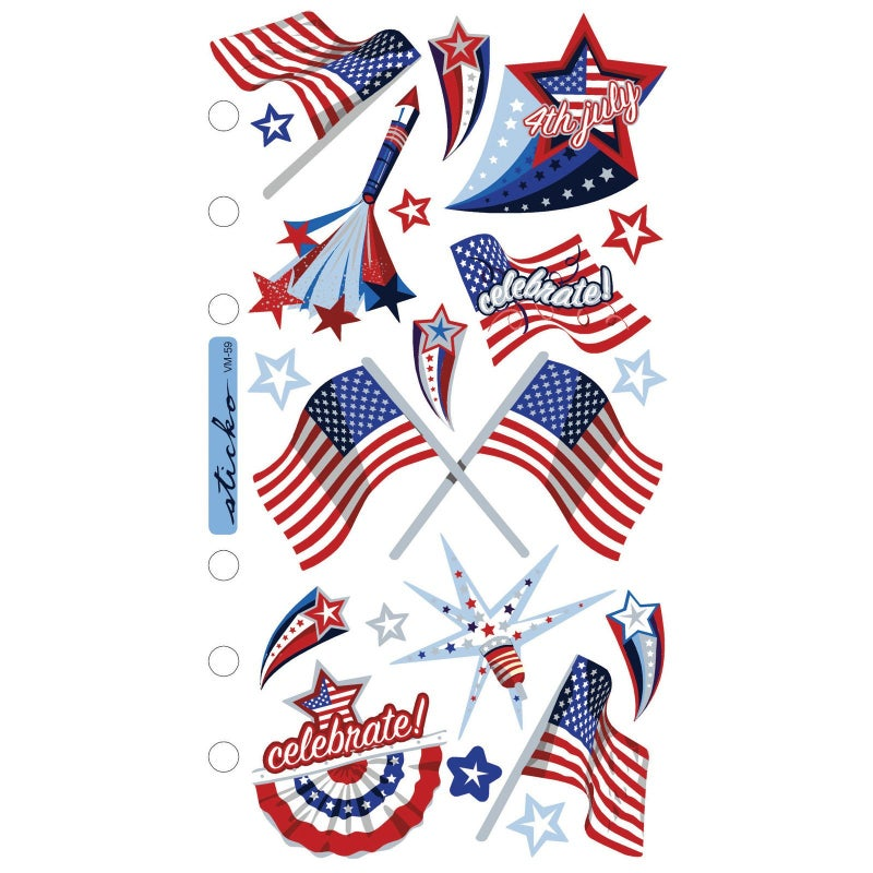 4th of July Vellum Stickers