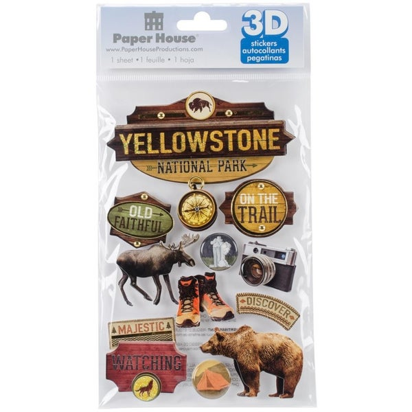 Yellowstone 3D Stickers