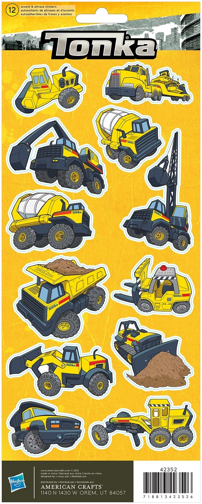 Tonka Truck Construction Stickers