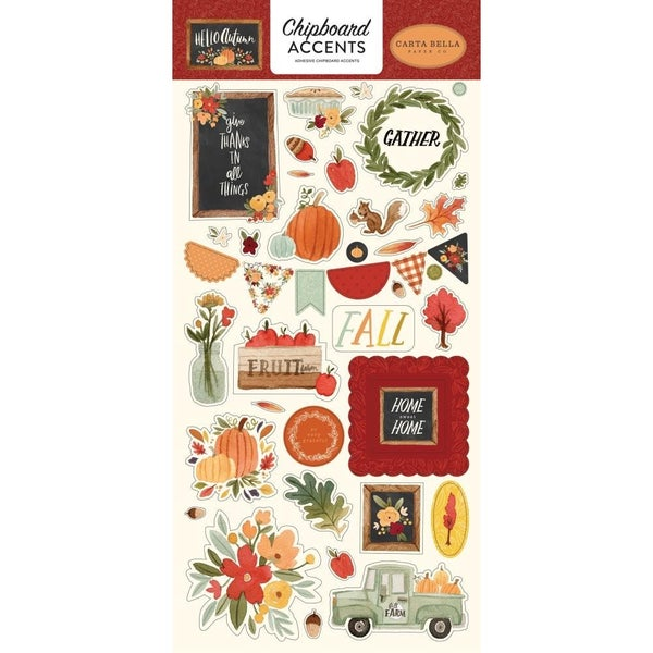 Hello Autumn Chipboard Accents