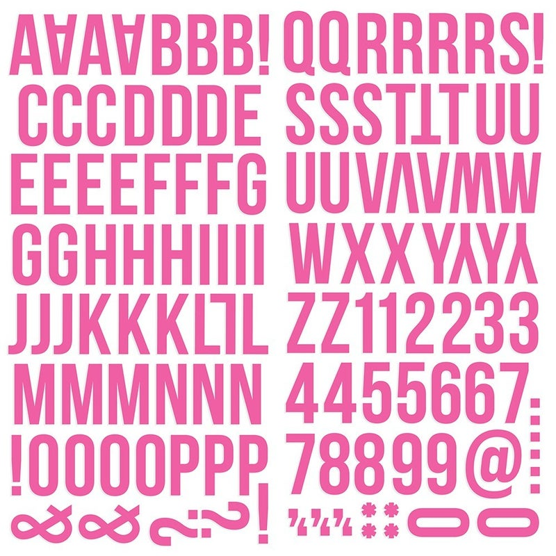 Pink Foam Alphabet Stickers