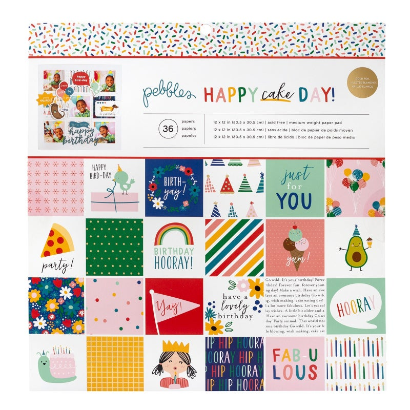 Happy Cake Day Paper Pad