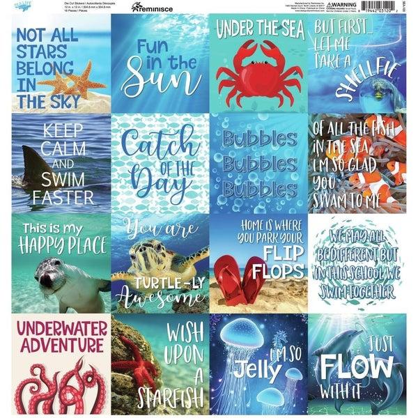 Sea Life 12x12 Sticker Sheet