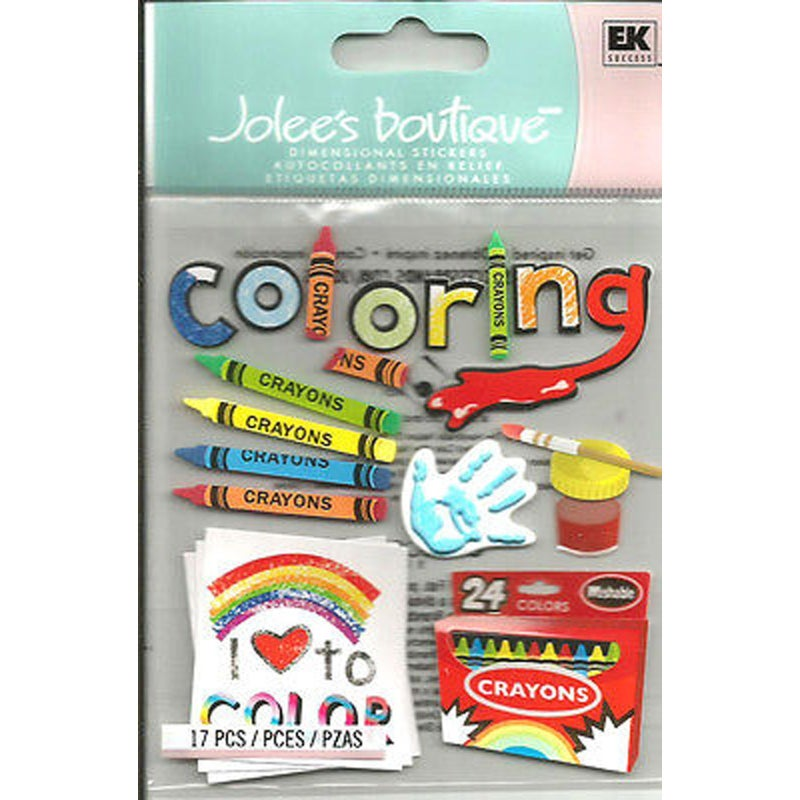 Coloring 3D kids Stickers