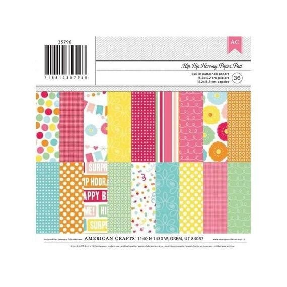 Hip Hip Hooray 6x6 Paper Pad