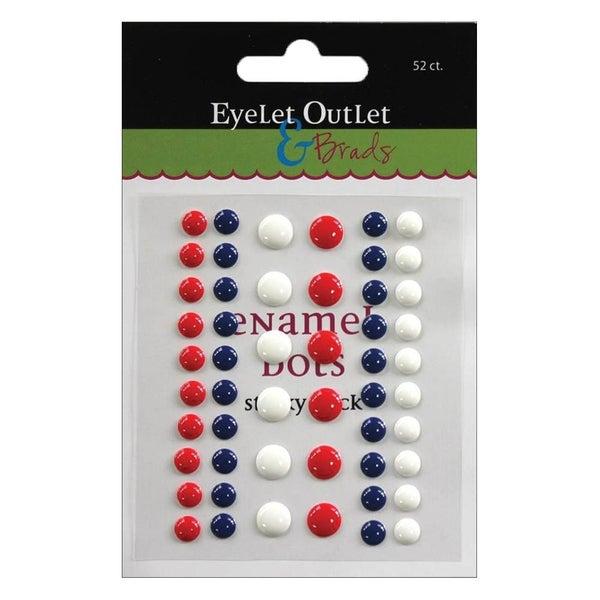 Red, White & Blue Enamel Dots