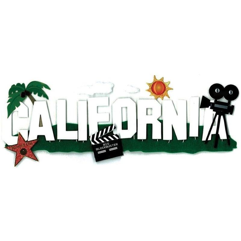 California Travel Title Sticker