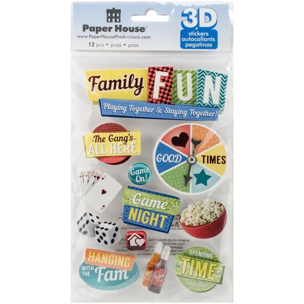3D Family Fun Stickers