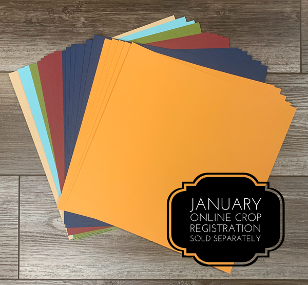 DML Getaway Cardstock Pack Qty 20 - January 2021 Crop Sold Separately