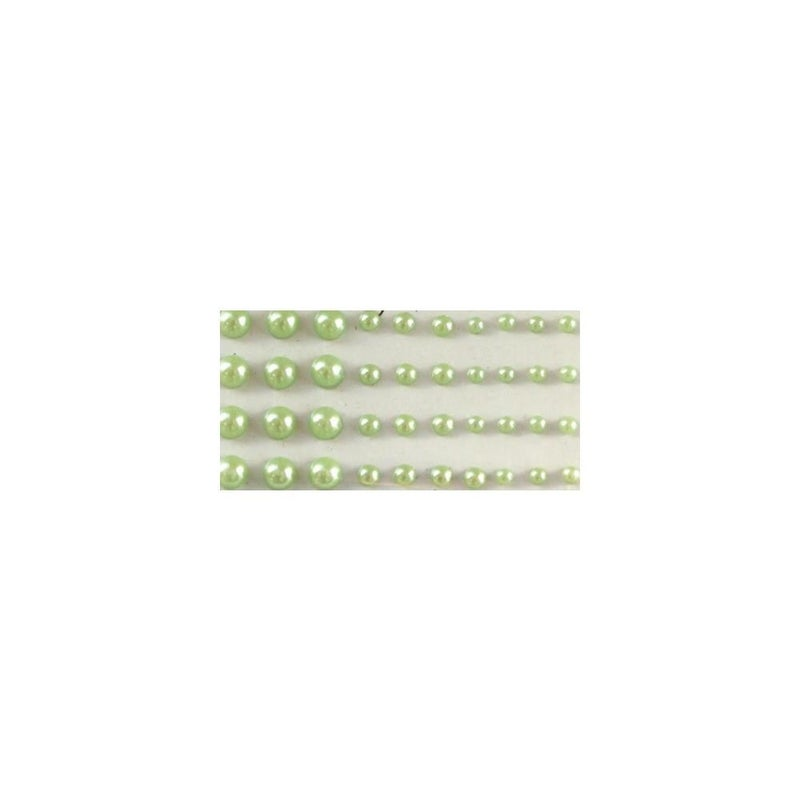 Adhesive Pearls Multi-Size - Green