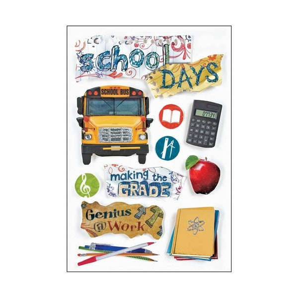 3D School Day Stickers