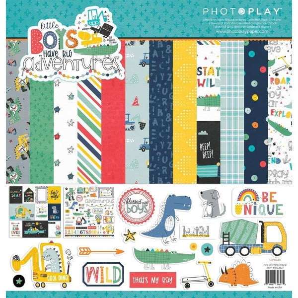 Little Boys Have Big Adventures Paper Pack
