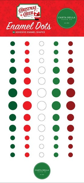 Christmas Cheer Enamel Dots