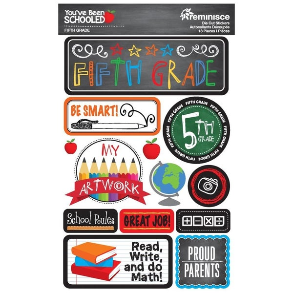 You've Been Schooled 5th Grade Stickers