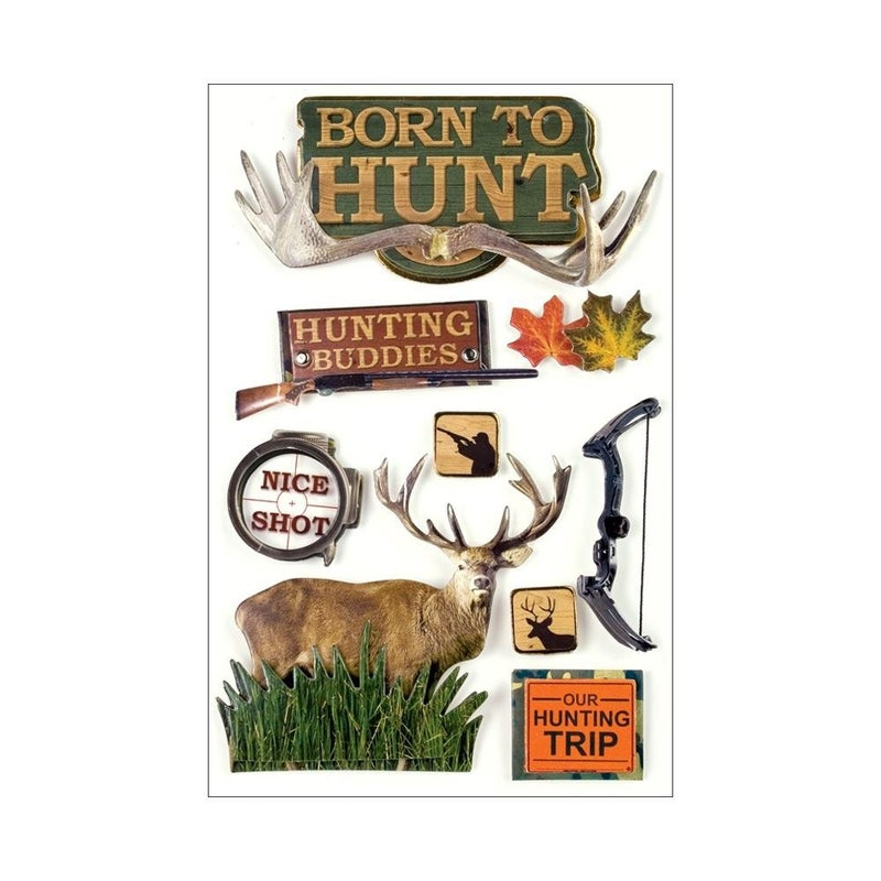 Born to Hunt 3D Stickers