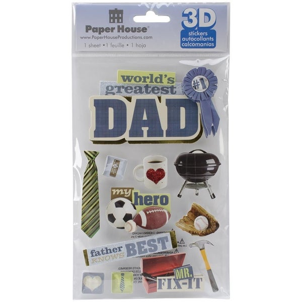 3D Dad Stickers