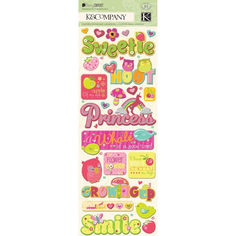 Sweetie Chipboard Stickers