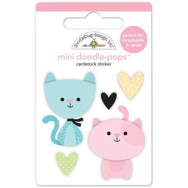 Bitty Kitties 3D Stickers cat