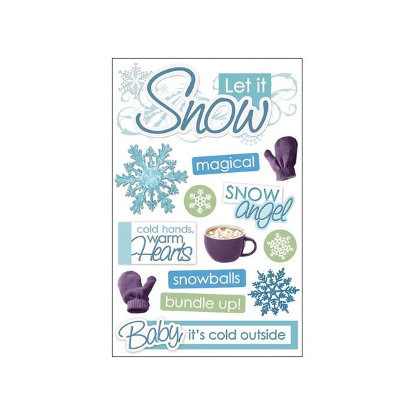Let It Snow 3D Stickers