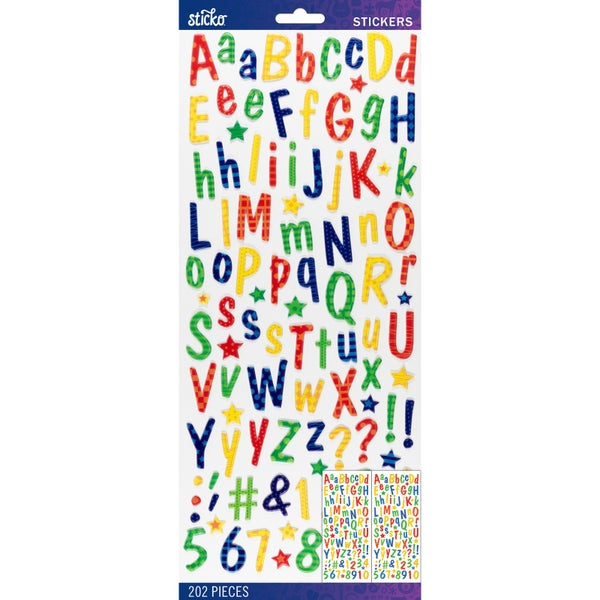 Primary Puffy Alphabet Stickers
