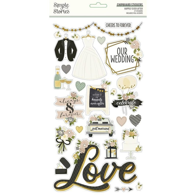 Happily Ever After Chipboard Stickers
