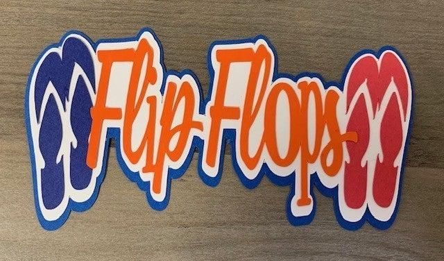 Flip Flops Die Cut Size 4 1/2 x 2 1/4