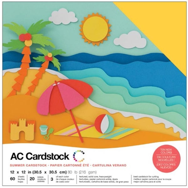 American Crafts Summer Cardstock Qty 60