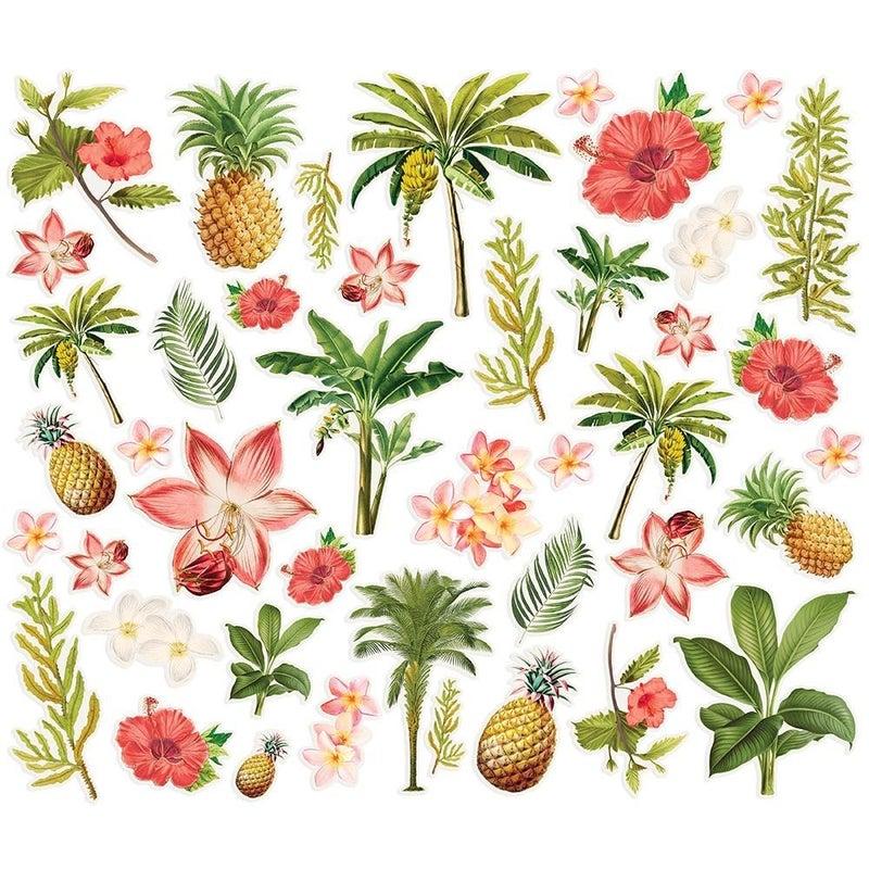 Simple Vintage Coastal Floral Bits & Pieces Die Cuts