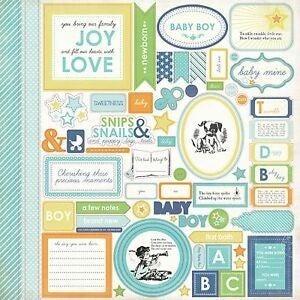 Baby Mine Boy 12x12 Sticker Sheet