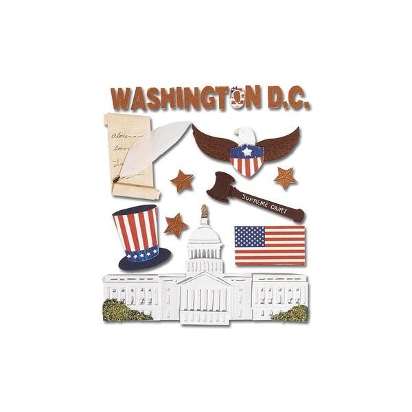 Washington DC Dimensional Stickers