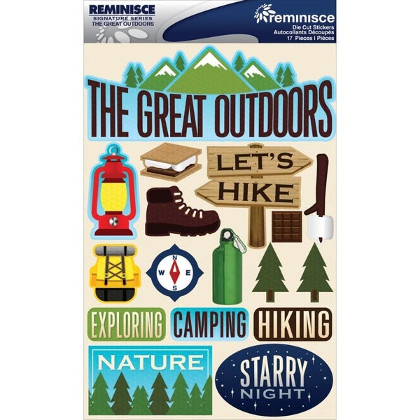 Great Outdoors Camping Hiking 3D Stickers