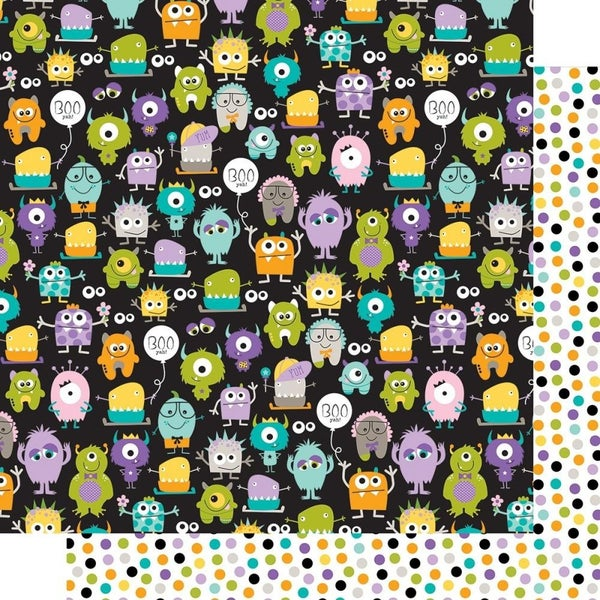 Monsters & Friends 8-sheet Paper Pack