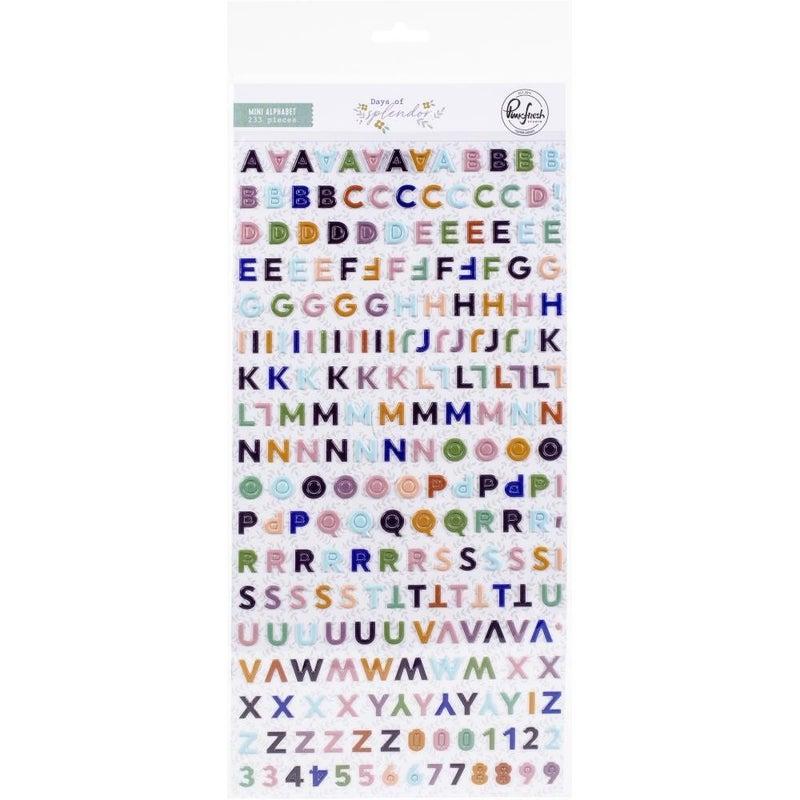 Days of Splendor Mini Alphabet Puffy Stickers