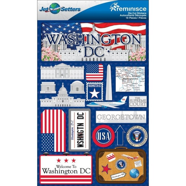 Jet Setters Washington DC Stickers