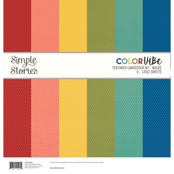 Bolds Textured Cardstock Paper Pack