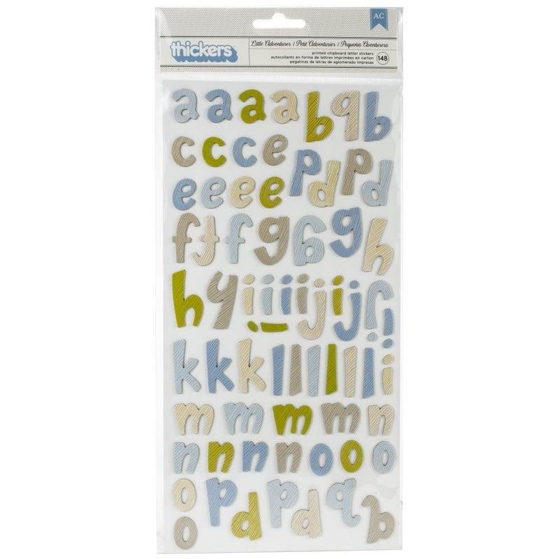 Little Adventurer Boy Alphabet Thickers