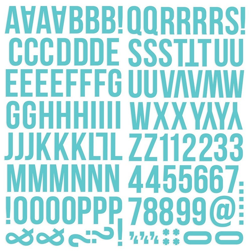 Teal Foam Alphabet Stickers