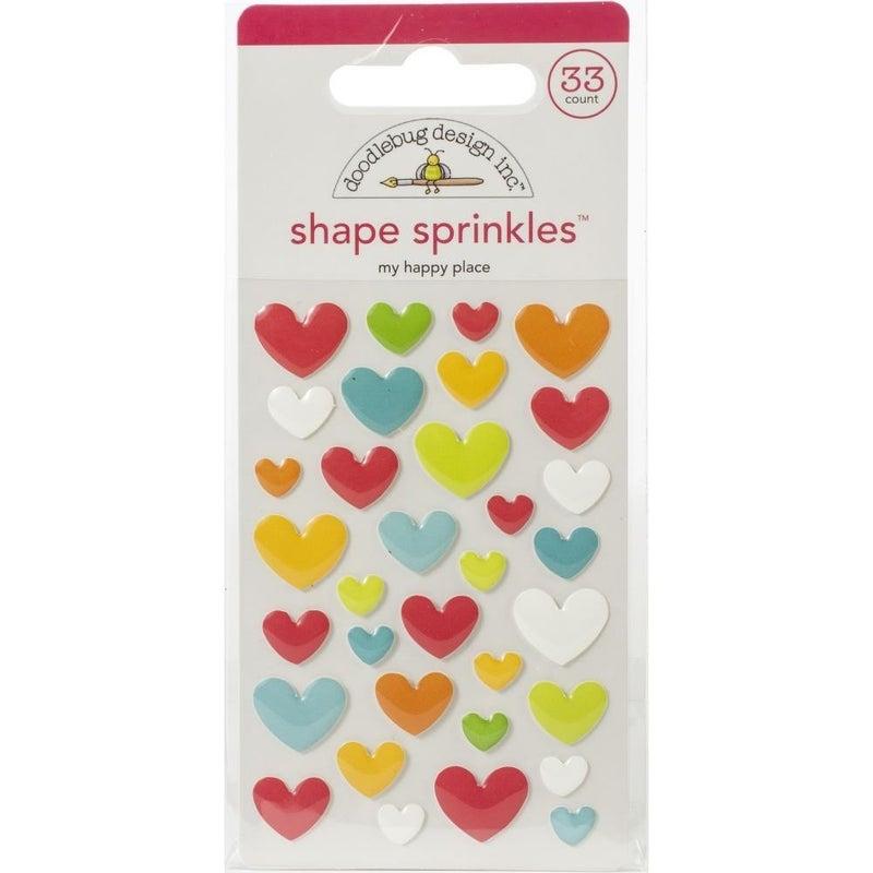 Doodlebug Sprinkles Enamel Shapes - Happy Place
