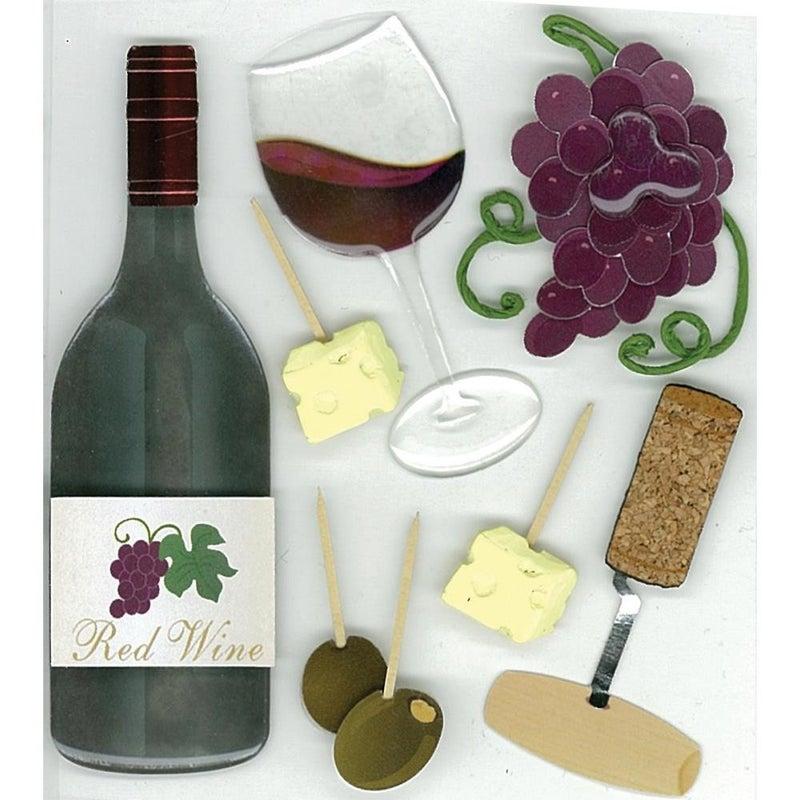 Jolee's Wine Tasting Dimensional Sticker