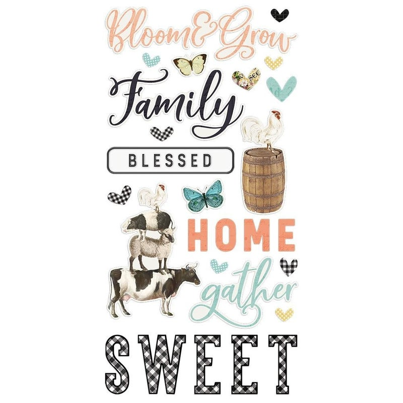 Simple Stories Farmhouse Garden Foam Thickers