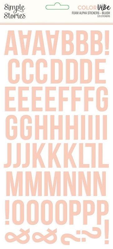Blush Foam Alphabet Stickers
