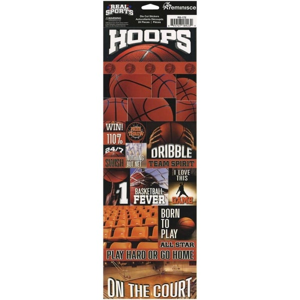 Hoops Basketball Stickers