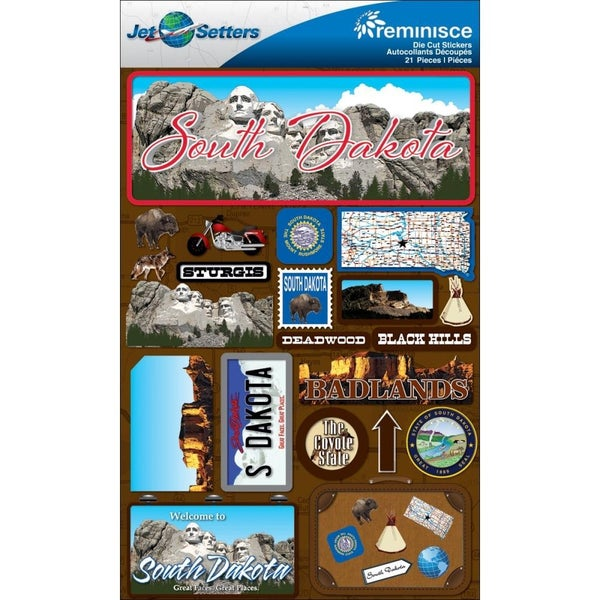 Jet Setters South Dakota 3D Stickers