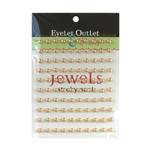Adhesive Pearls 5mm - Brown