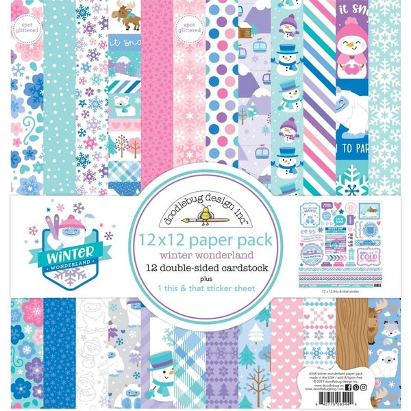 Doodlebug Winter Wonderland Paper Pack