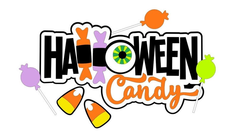 Halloween Candy Die Cut