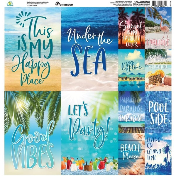Vacation 12x12 Sticker Sheet